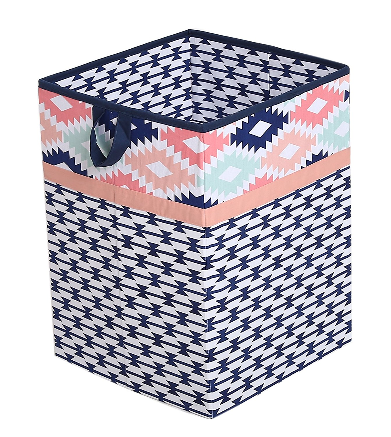 Get Quotations · Tribal/Aztec Kids Storage (Hamper 14 X 14 X 19 Inches,  Coral/