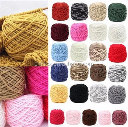 200g Soft Cotton Hand Knitting Yarn / Wool Yarn Ball Wool Scarf ...