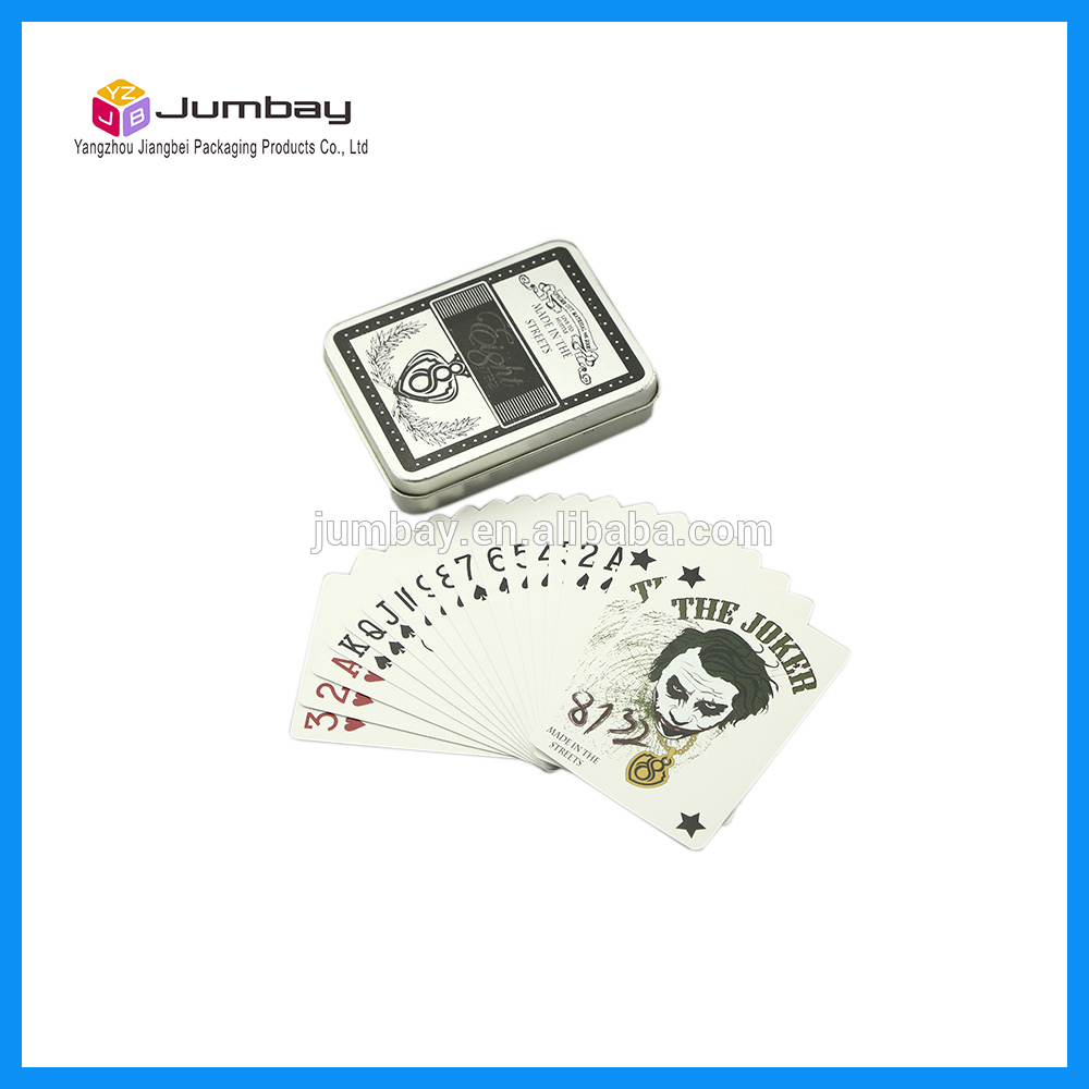 custom tin box playing cards with good quality &amp