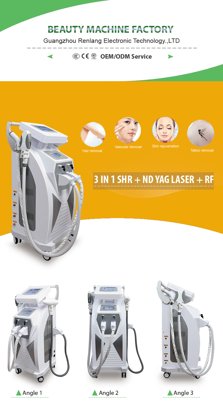 Hot sale 4 in 1 ipl rf nd yag laser double screen design for you