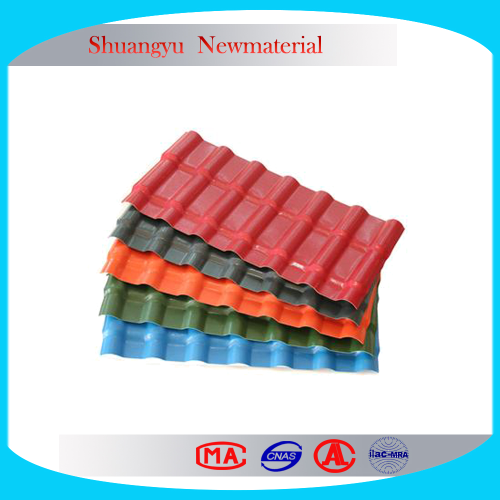 ASA resin plastic roofing, ASA roof plastic roof tile for shed