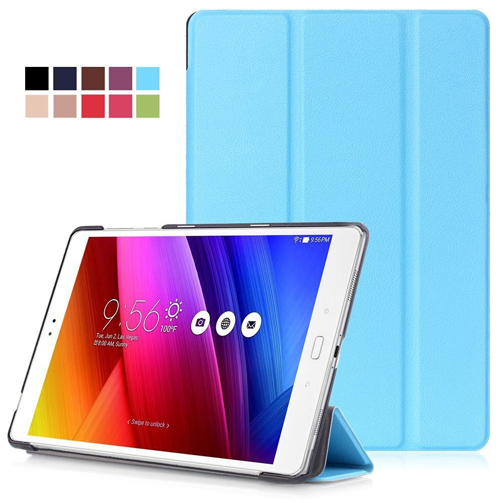 "Asus Zenpad 3S 10 Z500M Case - Bestdeal Ultra Slim Smart Cover Stand Case for Asus Zenpad 3S 10 Z500M 9.7"" inch Tablet + Screen Protector and Stylus Pen (Zenpad 3S Z500M, Sky Blue)"