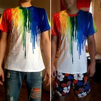 Wholesale cotton/polyester print black men t-shirt