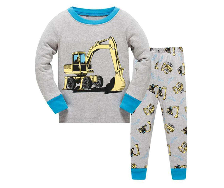 Grsafety Kids Pajamas Sets Children Clothes Set Boys Cotton Toddler PJS Sleepwear 2-7Y