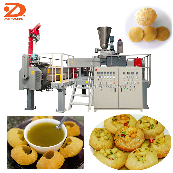 China Dayi extrusion machine produce India papad 2D 3D Pani Puri snack food