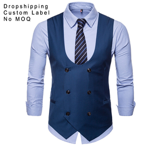 Fashion Mens Formal Double-Breasted Wedding Waistcoat Vests