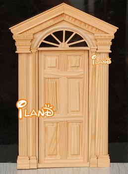 Dollhouse Wooden Unvarnished Exterior Door with trim OA011K & Dollhouse Wooden Unvarnished Exterior Door With Trim Oa011k - Buy ...