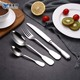 Hotel Stainless Steel Thin Handle Silver Plated Cutlery Tableware Flatware