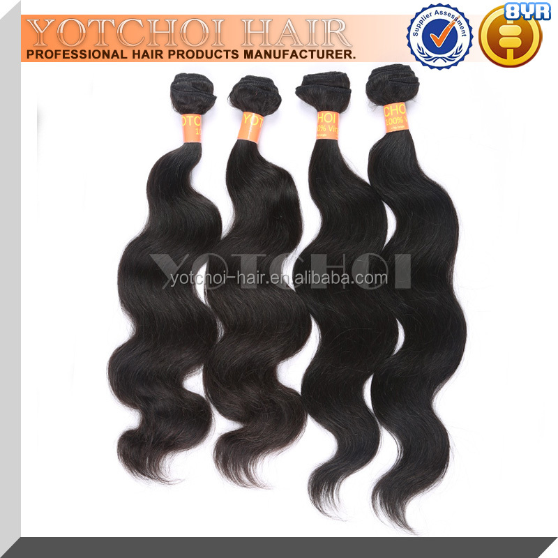 High Quality 4 Bundles Virgin Brazilian Cheap Body Wave Hair Weave