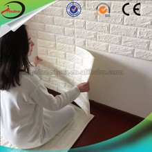 3d brand new products interior decorative pvc wall panel china 3D Brick Wall Wallpaper uv coating bathroom paneling
