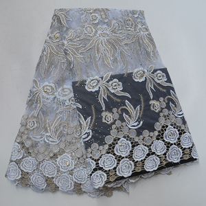 Latest Swiss Voile Lace for Wedding African Lace Fabric High Quality with Stones french lace fabric