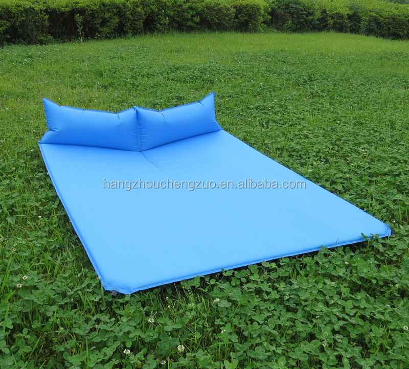 2 Person Wear-resistant Lightweight Self-Inflating Sleeping Pad with Self-Inflating Pillow,CZP-009 Backpacking air Mattress