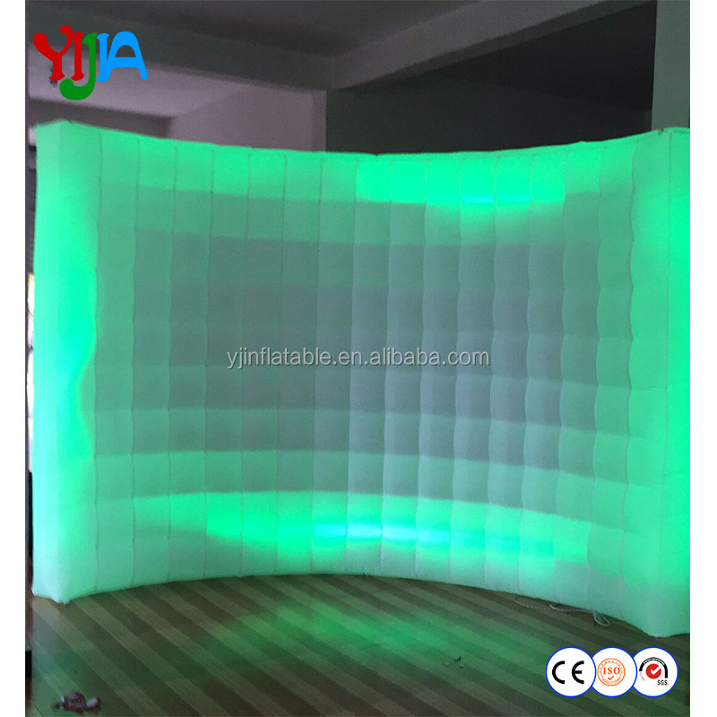 elegant shape portable led inflatable wall for wedding <strong>decoration</strong>