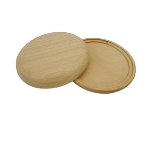 Rubber Wooden Round-shaped Coaster