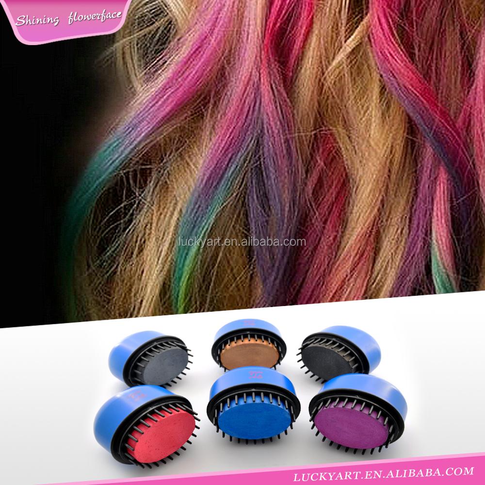 temporaire hair dye poudre cheveux chalk non toxique lumineux cheveux craie couleurs - Craie Coloration Cheveux