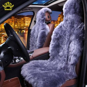 Italy design Luxury Purple long wool Australia sheepskin Handmade car accessories interior long fur car seat cushion covers