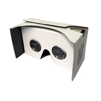 Google Cardboard 3D VR Virtual Reality DIY VR Headset For 3D Movies and Games Compatible with Android & Apple Up to 6