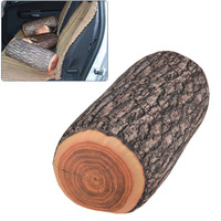 Gift for Home Natural Camping Cylinder Wood Design Log Soft Cushion Pillow
