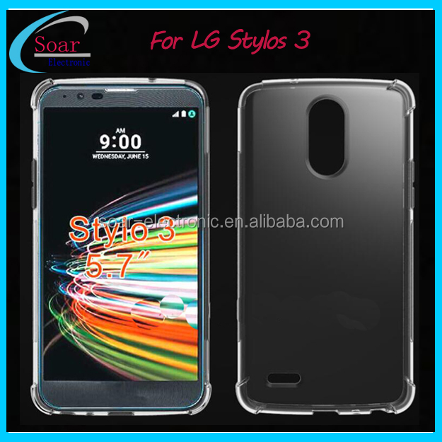 New arrival shock proof tpu case for LG Stylo 3 gel silicone cover for LG Stylus 3 phone case