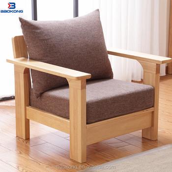 Single Seat Waiting Sofa Modern Solid Wood Frame Fabric Sofa Chair - Buy  Single Seater Wood Sofa Chairs,Single Seater Sofa Chairs,Single Wooden Sofa  ...