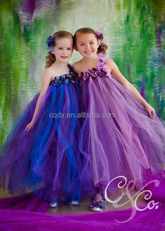 2a61ba471f4 2015 New Summer Indian Flower Girl Fluffy Tulle Dress