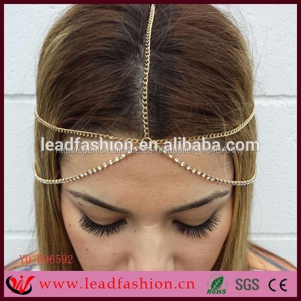 c586e2cacd27 de accesorios para el cabello de múltiples capas de cinta para la cabeza de  aleación de