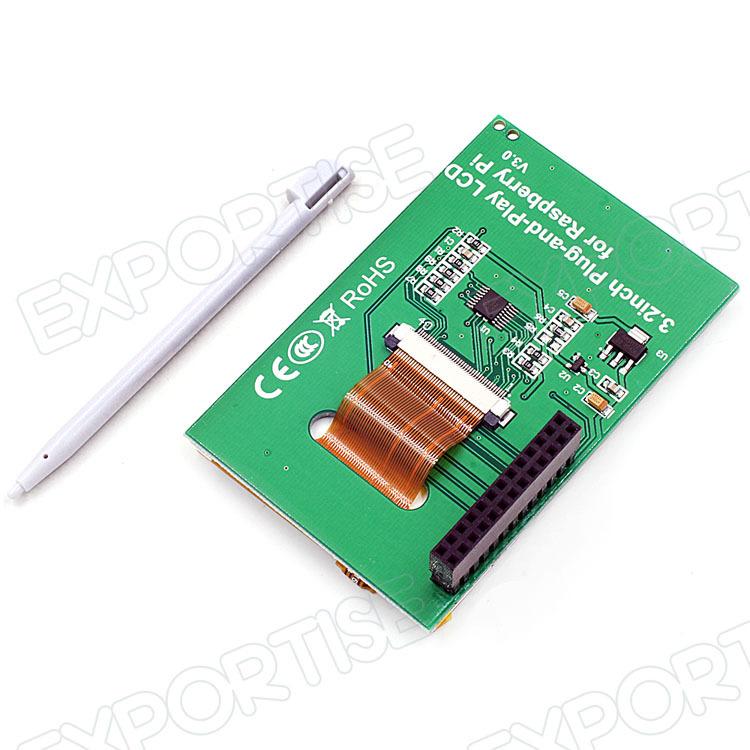 B Plug-and-play de 3.2 Pulgadas Pantalla Táctil Tft Pantalla Lcd Para Raspberry Pi 2