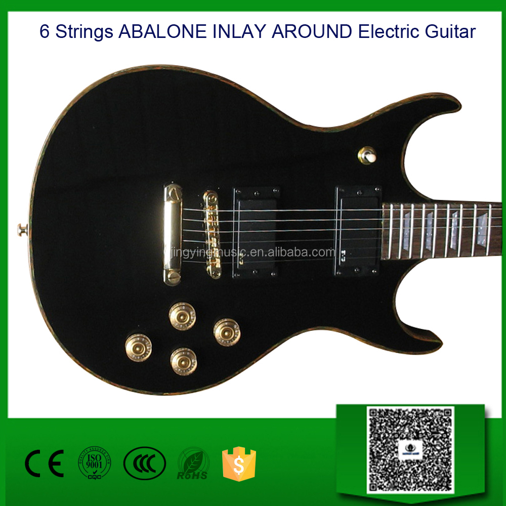 6 Strings ABALONE INLAY AROUND Electric Guitar