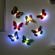 LED Colorful Changing Butterfly LED Night Light Lamp Home Room Party Desk Wall Decoration