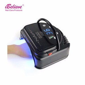 Professional nail care products high power 64w uv led cordless gel nail lamp