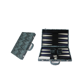 16 Inches Snake Leather Backgammon Board Set