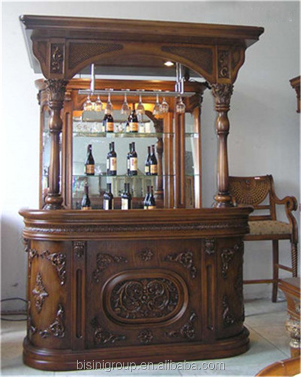 Antieke victoriaanse stijl houten kast thuis wijn bar for Barras de bar para casa