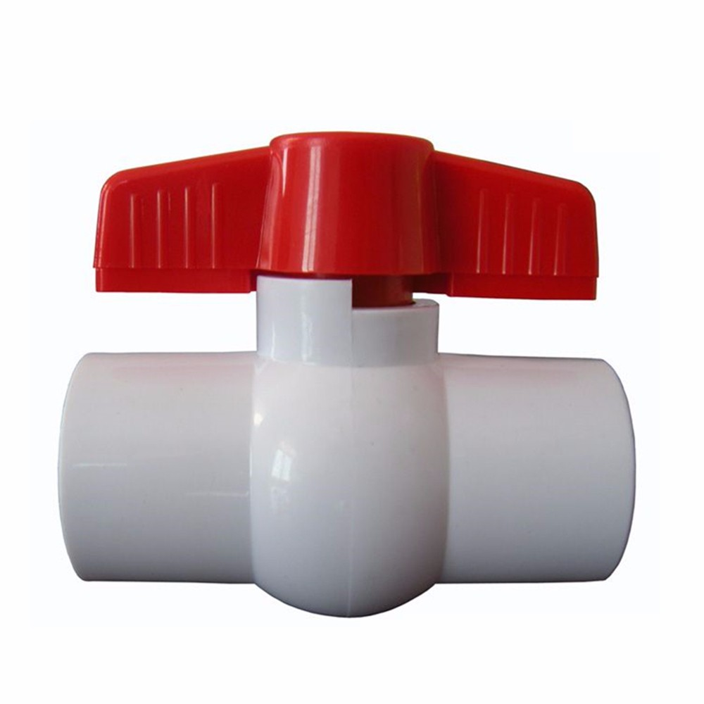 "China manufacture made in china 12"" pvc ball valve with stronger handle"