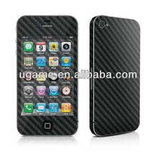 Full body carbon fiber skin sticker for iphone 4