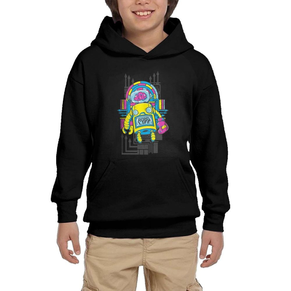 Robot Colortone Youth Athletic With Pocket Hoodies Long Sleeve Pullover Sweatshirts