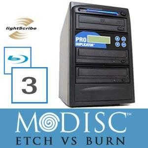 Write Once&Read Forever 3 Burner M-Disc Ready Blu-Ray Lightscribe CD/DVD Duplicator+500GB+USB+Free Permanent 5pk MDisc DVD