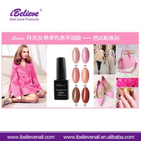 Low Price Eco-Friendly 15ml Black Bottle Multi Color 3 Step Nail Gel Polish