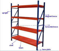 China Supplier Metal storage rack metal rack with wheels