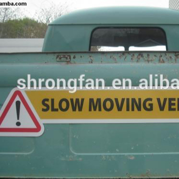 Reflective Magnets Slow Moving Vehicle Sign Custom Car Magnetic