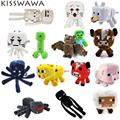 Minecraft Plush Toys Enderman Ocelot Pig Sheep Bat Mooshroom Squid Spider Wolf Animal soft stuffed dolls