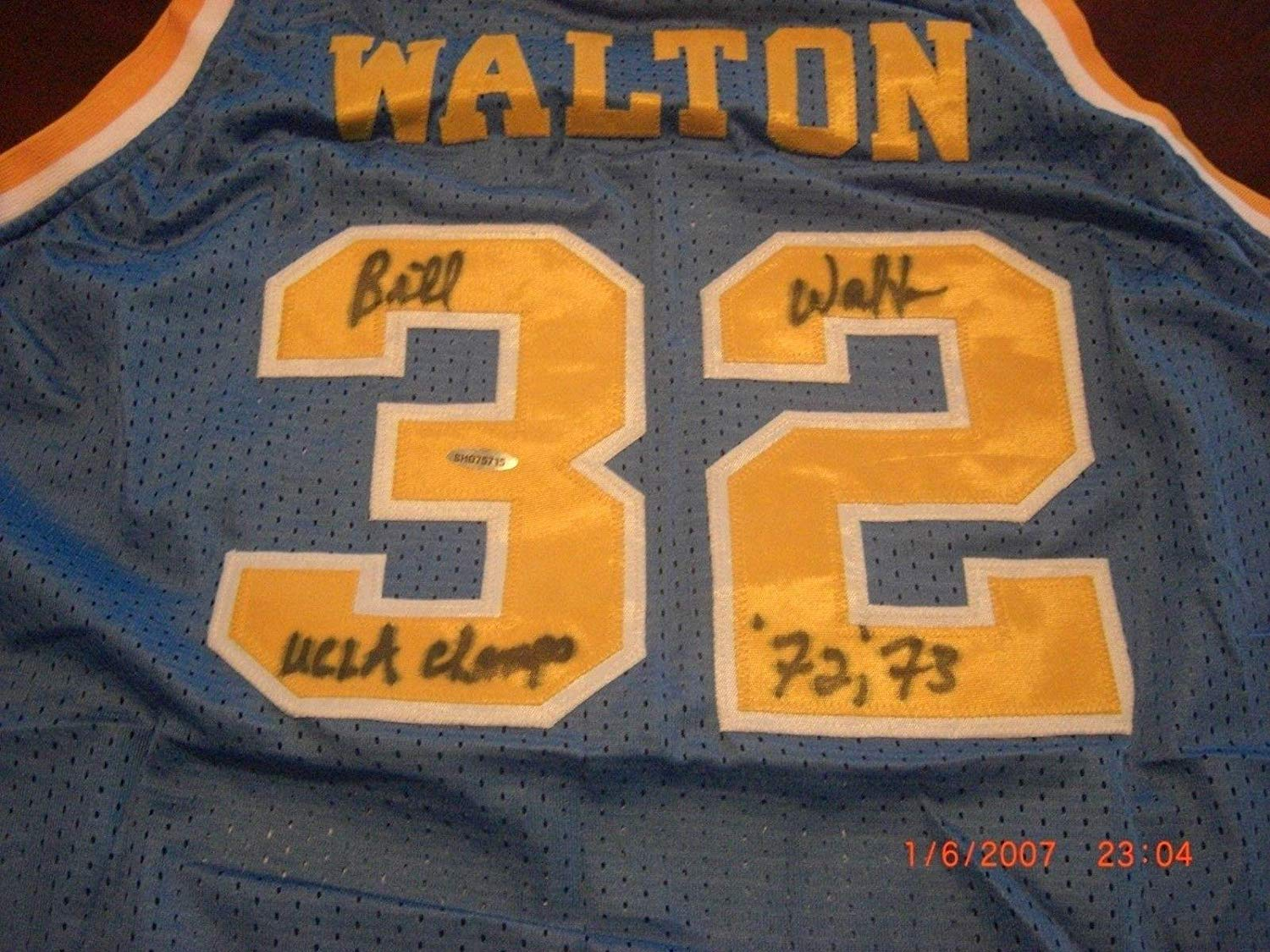 cef1c55b Get Quotations · Bill Walton Signed Jersey - Ucla Bruins ucla Champs 72 73  hologram - Tristar Productions Certified