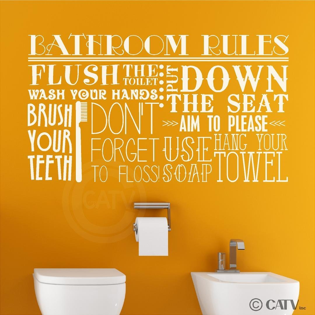 Cheap Bathroom Rules Wall Decal, find Bathroom Rules Wall Decal ...