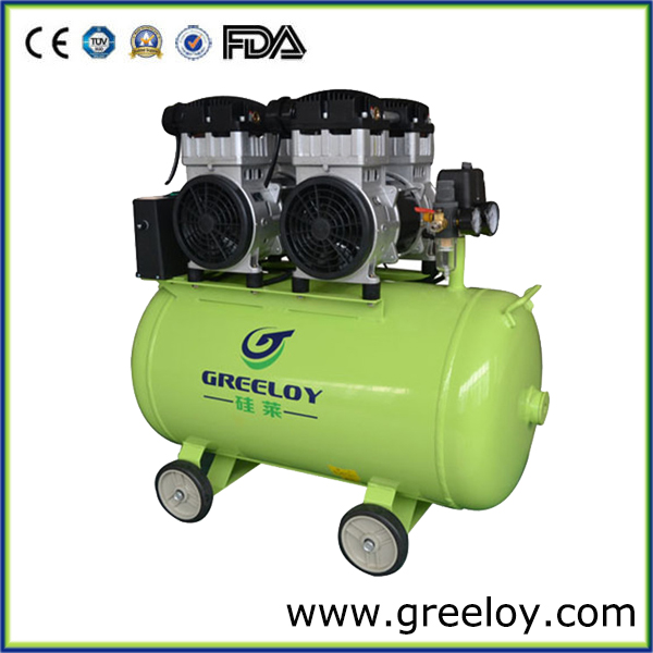 Germany Quality !!! 2400W Double Motor Oil Free Silent Air Compressor From Reliable Dental Lab Equipment Manufacturer