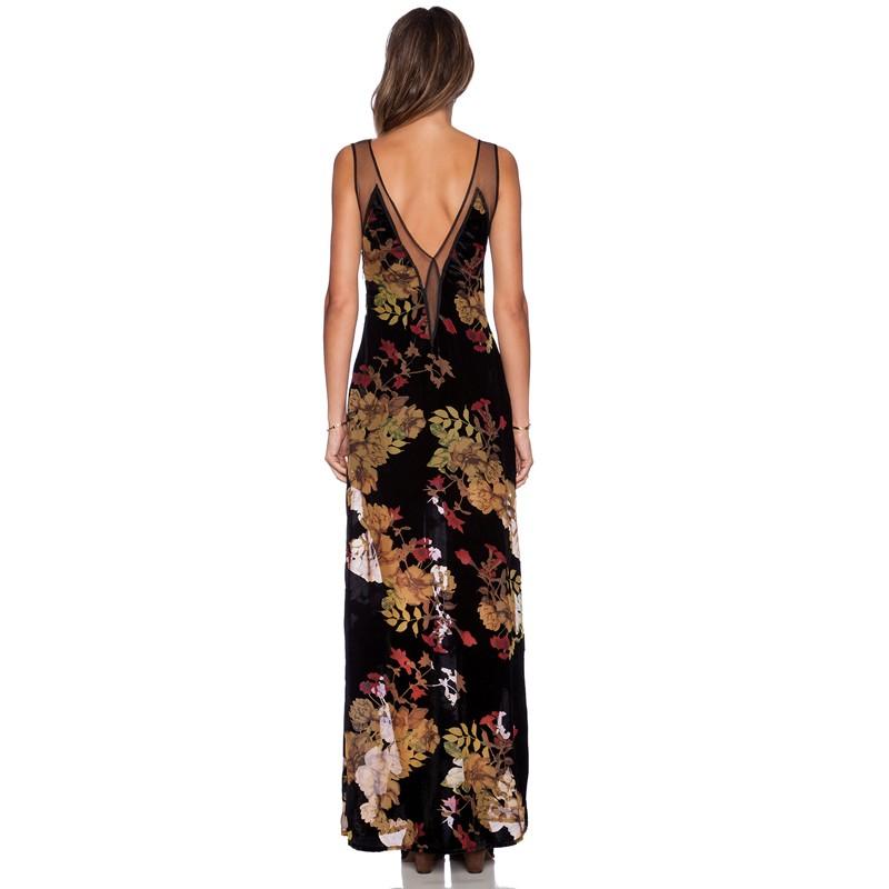 646cecc94012c OEM Custom made Ball Gown Prom Maxi Long flora Printing Hawaiian Dresses