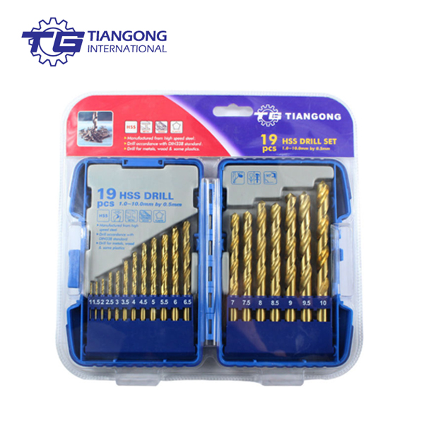 TG Tools HSS M2 fully ground 19pcs DIN338 drill bit set