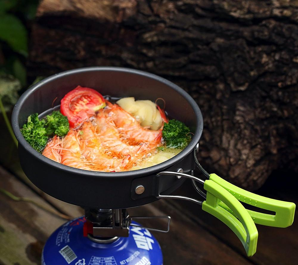 Free shipping Camping Cookware Outdoor Camping Cooking Pot Set Travel Cooking Kit Set