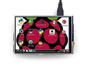 Waveshare Raspberry Pi LCD Display Module 4inch 320x480 (Pixel) TFT Resistive Touch Display Screen Kit SPI Interface for Rapsberry pi A/A+/B/B+/2 B/3 B