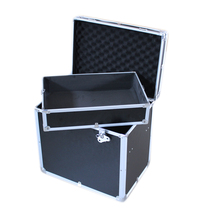 Excellent Quality Durable Black Aluminium Flight Trolley Case for carrying with wheels