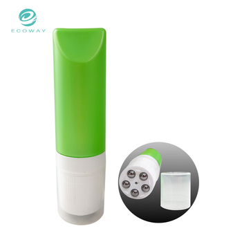 Plastic green empty packaging tube cosmetics body lotion Roller ball tube