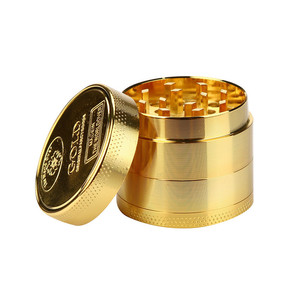 Hot Sale Alloy Herbal Herb Tobacco Grinder Spice Weed Grinders Smoking Pipe Accessories Gold Smoke Cutter Grinders